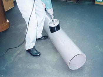 塩ビ管ドッカンコアドリル施工例