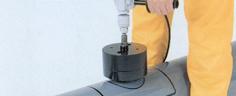 バイメタル塩ビ管用ホールソーの使い方